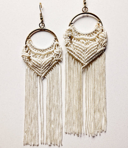 Cybil macrame earrings