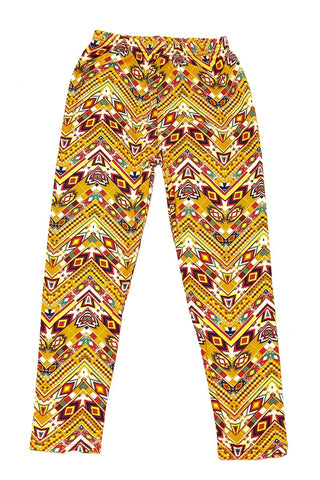 gold tone aztec leggings