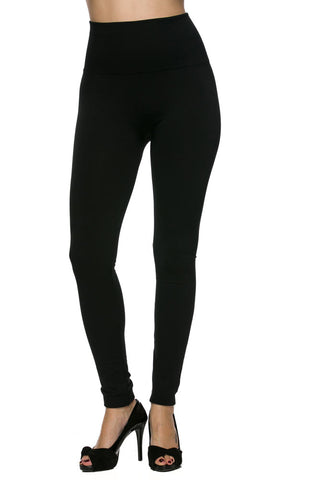 high waist fleece lined ankle leggings