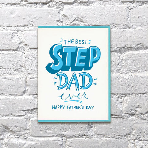 Bench Pressed - Step Dad Card