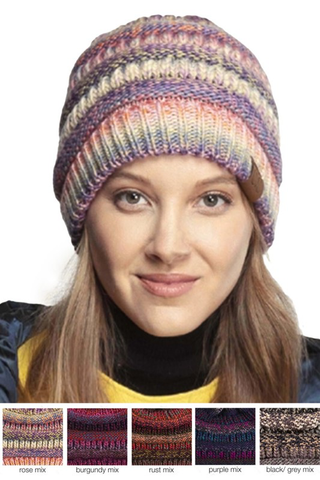 C.C multi color beanie