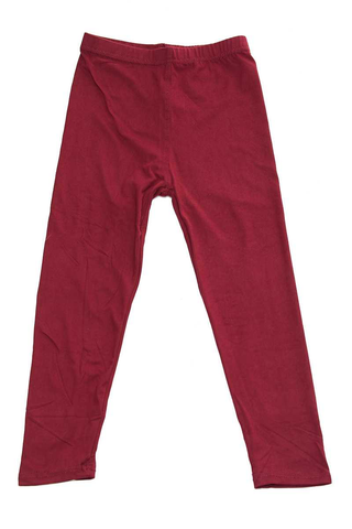 kids solid leggings