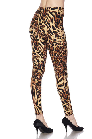 animal fur lined leggings