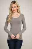 crew neck long sleeve top