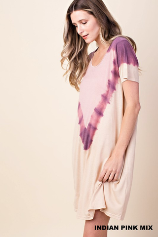 tie dyed jersey dress
