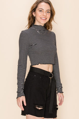 lettuce edge crop top
