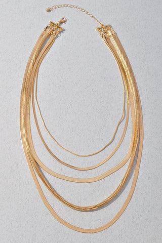 layered flat chain necklace