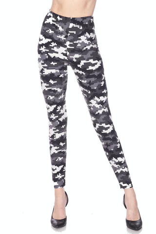 digital camo print leggings