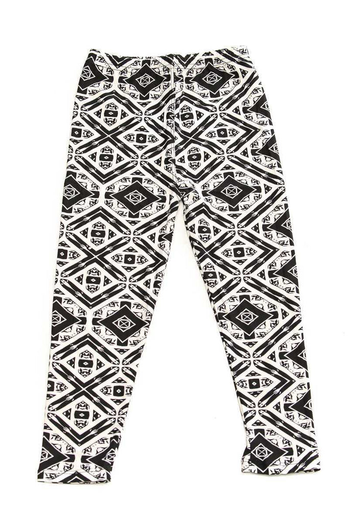 kids diamond print leggings