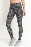 dark abstract print leggings