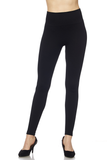 pique textured high waist fleece leggings