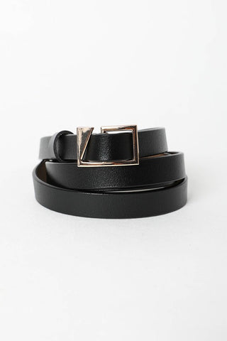 asymmetrical buckle cinch belt