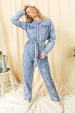 acid wash jumpsuit