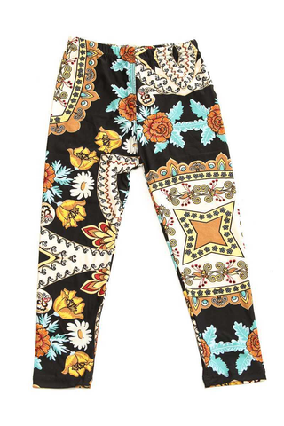 floral folk leggings