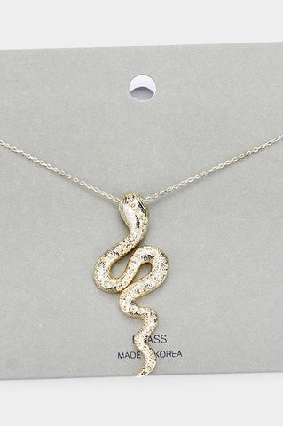 snake pendant necklace
