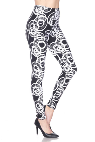 geo-circle print leggings