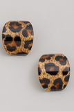 acetate curved stud earrings