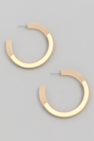 acetate metal hoop earrings