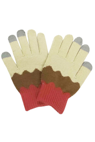 wavy touch gloves