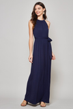 jewel neckline maxi dress
