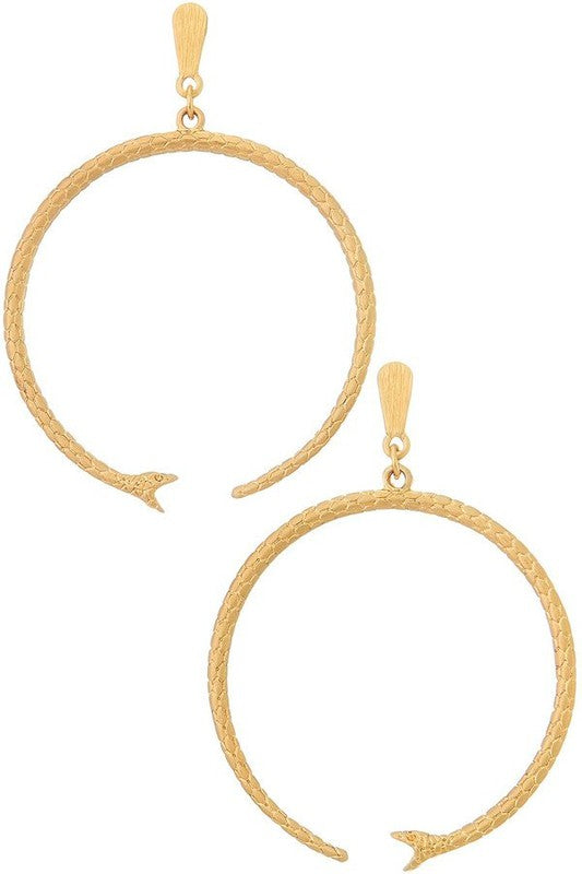 open hoop snake earrings