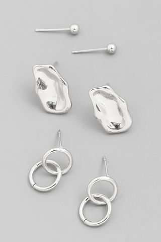 assorted stud earring set