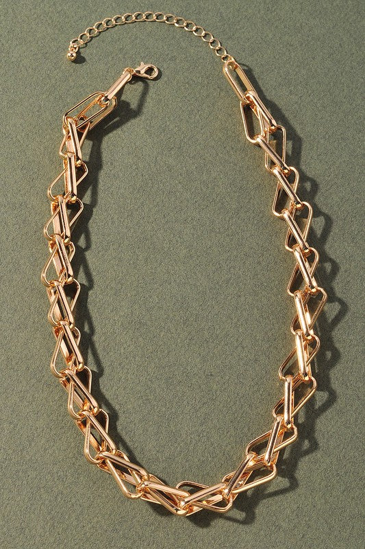 stacked chain necklace