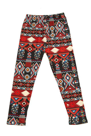 kids aztec leggings