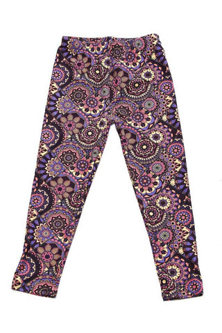 kids diamond paisley leggings