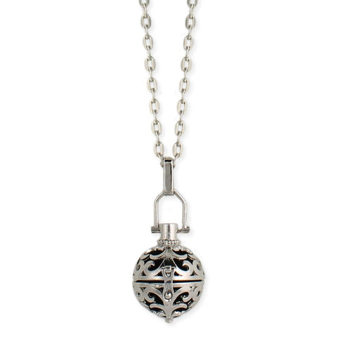 oil diffuser ball locket necklace