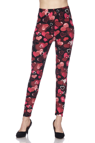 Valentine heart leggings