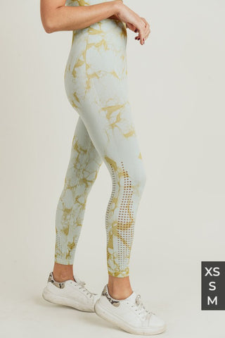 seamless tie dye leggings