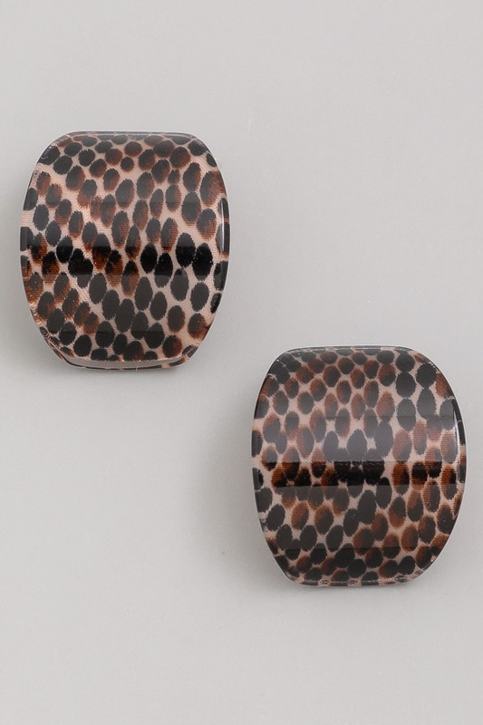 dotted acetate stud earrings