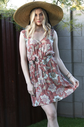 boho button dress