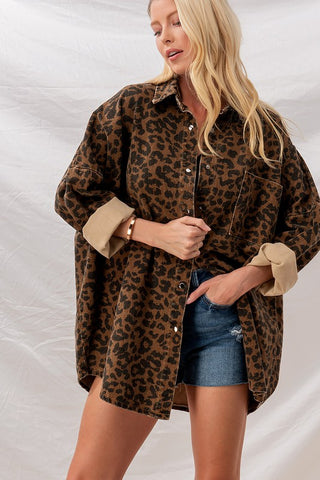 leopard shirt jacket