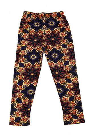 kids dark paisley leggings