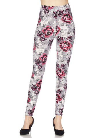 garden rose print leggings J197
