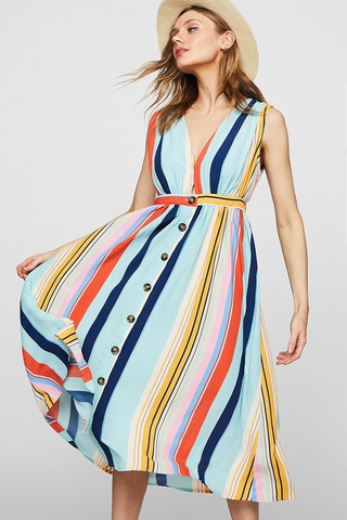 variegated stripe dress