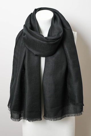 solid frayed edge scarf