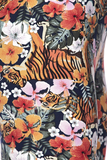 tiger flower print leggings