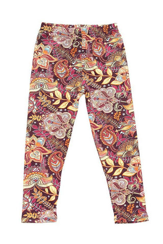 kids sunset paisley leggings