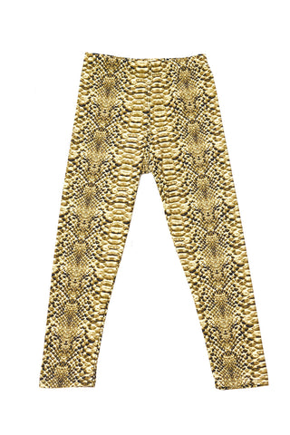 kids snake print leggings