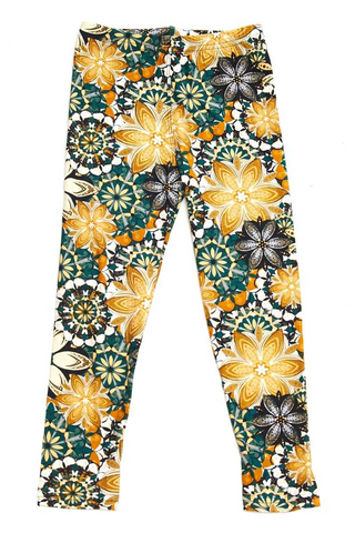 floral twist leggings