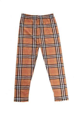 kids plaid leggings