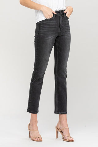 black wash slim straight