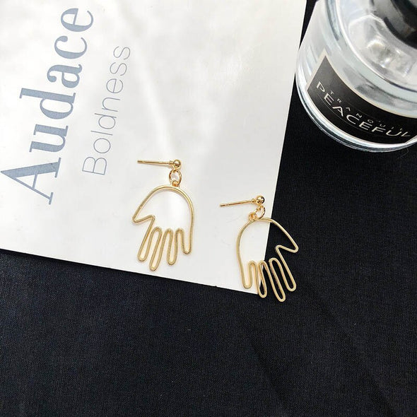 Abstract Hands Earrings