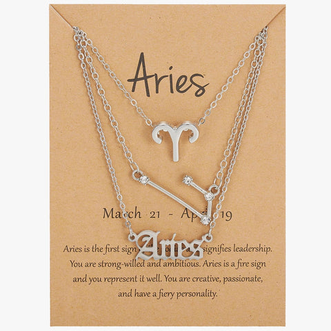 3 Zodiac Sign Necklaces