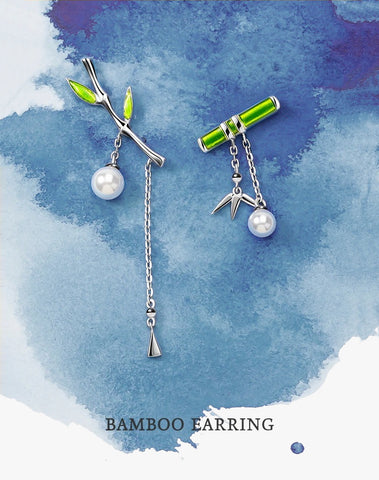 Bamboo Earrings | 925 Sterling Silver