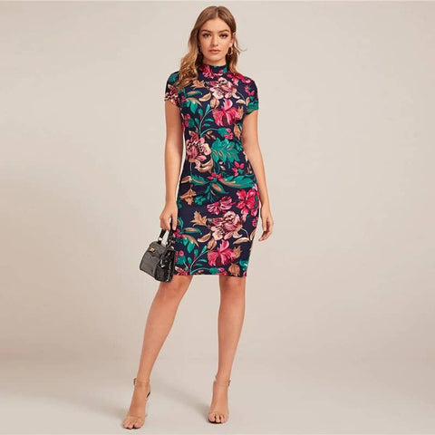 Royal Floral Dress