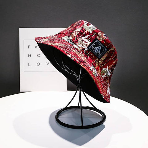 Sakana Red. Bucket Hat